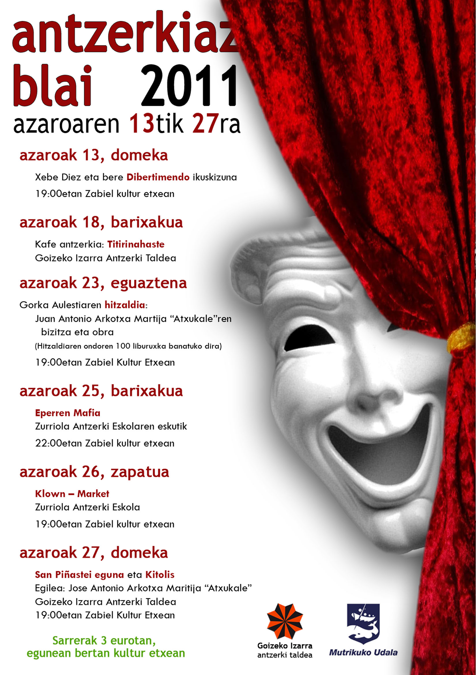 Cartel de Antzerkiaz Blai