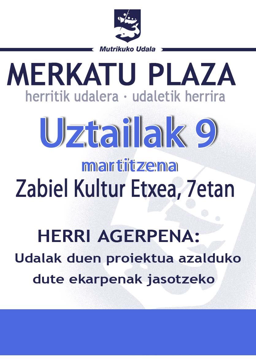 merkatu plaza agerraldia